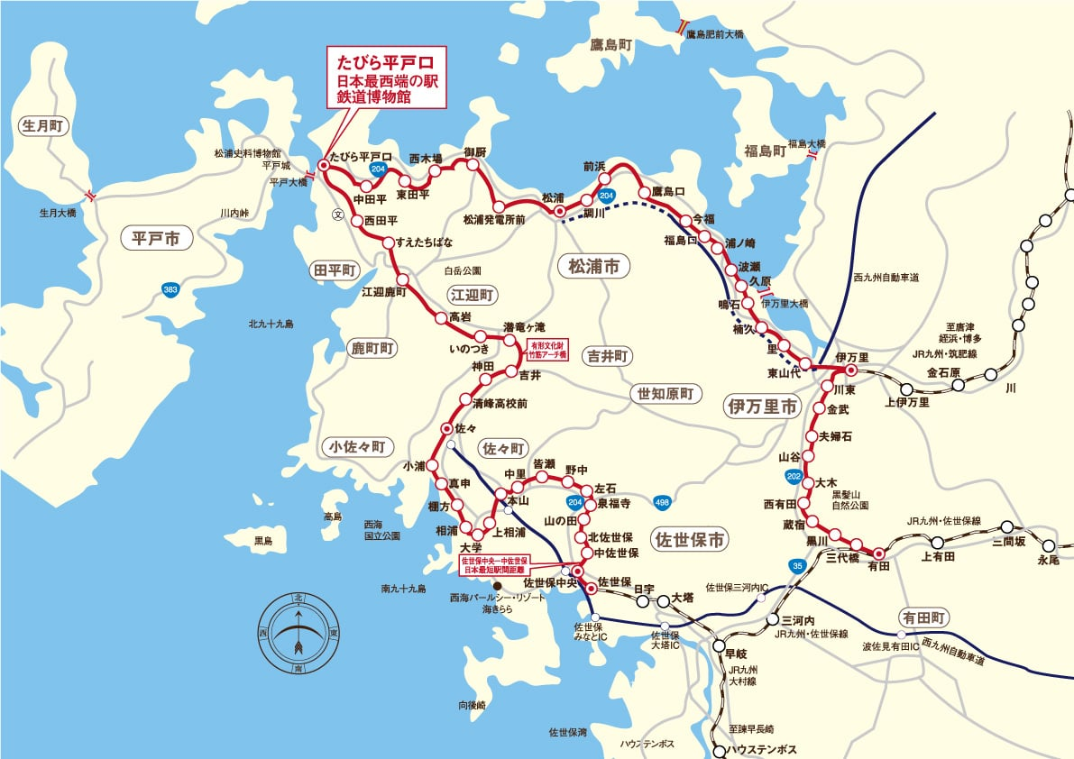 路線図|松浦鉄道株式会社【鉄道...